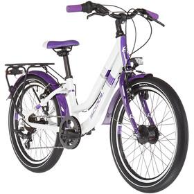s'cool chiX twin alloy 20 7-S Kinderen, white/violett